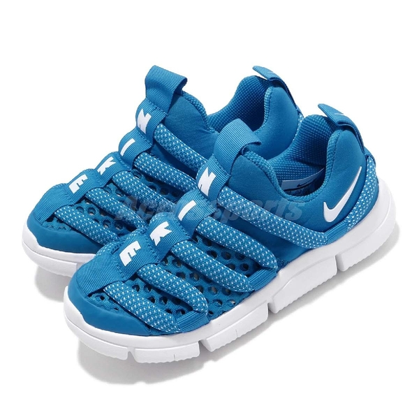 Nike 運動鞋 Novice BR PS 藍 白 毛毛蟲鞋 中童鞋 學步鞋 【PUMP306】 BQ6720-400