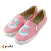 Paidal 繽紛甜心Donut休閒鞋樂福鞋懶人鞋-桃紅甜甜圈
