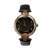 【Folli Follie】簡約晶鑽星砂精緻時尚腕錶-星空黑/WF16R042SSK_BK/台灣總代理公司貨享兩年保固