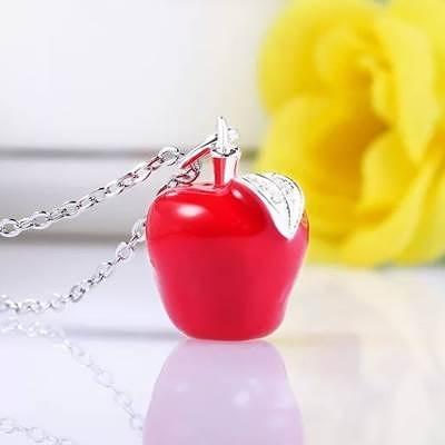 925純銀項鍊-紅蘋果聖誕平安夜小禮物生日情人節禮物女吊墜2色73v38【巴黎精品】