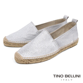 Tino Bellini 西班牙進口銀光閃耀麻編休閒鞋_ 銀白 A83067 歐洲進口款