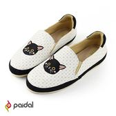 Paidal甜蜜寵物神秘黑貓休閒鞋