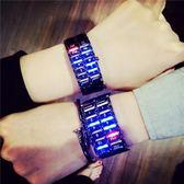 網紅新概念黑科技手錶男學生韓版抖音個性潮女創意科技炫酷電子錶【店慶8折促銷】