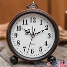 熱賣鬧鐘 簡約金屬學生時鐘小鬧鐘兒童床頭專用靜音大數字電子復古創意鐘錶 【618 狂歡】