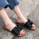 平底拖鞋.甜美舒適點點蝴蝶結拖鞋.白鳥麗子