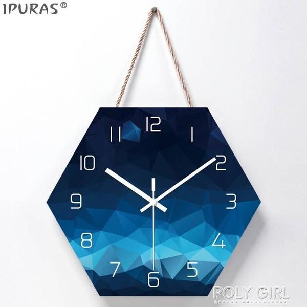 北歐掛鐘客廳裝飾創意時鐘掛牆現代簡約超靜音臥室家用鐘錶免打孔 喜迎新春