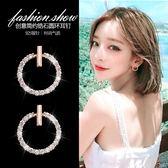 圓環純銀耳釘女氣質韓國個性耳環簡約無耳洞耳夾 萬客居
