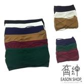 EASON SHOP(GU6608)實拍糖果色無肩帶後交叉裏胸抹胸內衣短款防走光內搭背心一片式有胸墊彈力貼身
