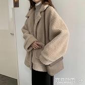羊羔毛外套 韓版加厚羊羔毛外套女士秋冬裝百搭寬鬆保暖慵懶風棉服上衣潮 寶貝計畫