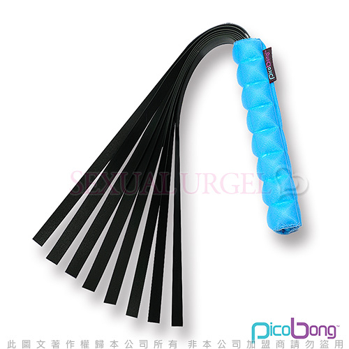 情趣用品-商品買送潤滑液♥女帝♥瑞典PicoBong-Take No Evil Whip惡靈退散皮鞭海洋藍情趣用品