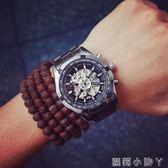 手錶男士歐美潮牌原宿鏤空全自動機械錶大錶盤潮流商務精鋼帶男錶學生 igo全館免運