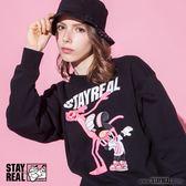 STAYREAL x Pink Panther 舞力全開粉紅豹厚棉T
