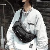 男士背包潮款網紅個性韓版嘻哈休閒戶外防水牛津布胸包單肩小背包【免運快出】