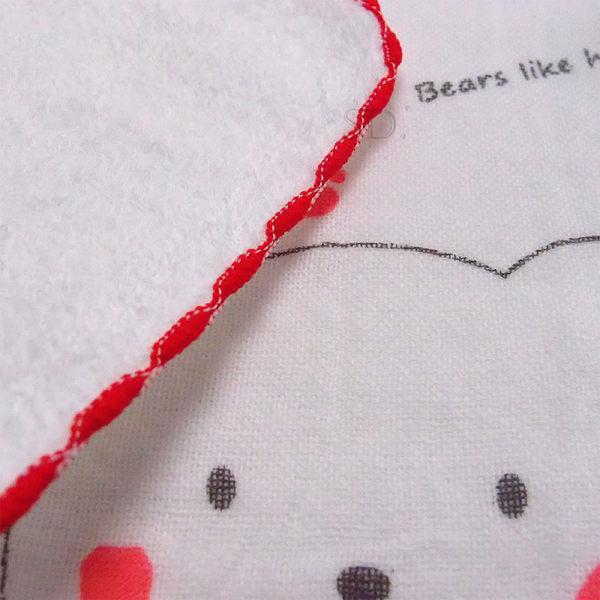 雙星Gemini日系紗布系列-SG492K 蜂蜜小熊印花紗布小方巾