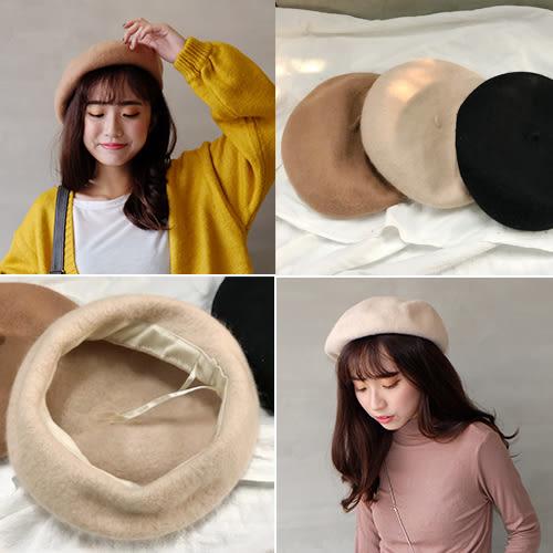 質感羊毛貝蕾帽(可調)畫家帽-四色【CA1061】Minuet