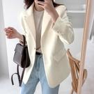 西裝 小西服女韓版寬鬆休閒2020新款網紅上衣炸街白色氣質職業西裝外套 南風小鋪