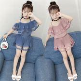 女童套裝 兒童裝夏裝2019新款小女孩洋氣運動潮衣服9周歲 BT9836【大尺碼女王】