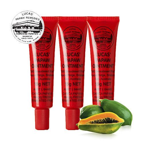澳洲木瓜霜 Lucas Papaw Ointment 原裝進口正貨 (15g/瓶,共3入)【台安藥妝】
