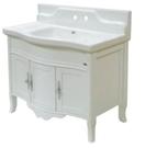 【麗室衛浴】國產精緻  PV1017 古典面盆置物櫃   寬100*深53.5*高102.5cm