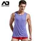 -背心-基本包色款健身背心 運動上衣 男運動服 多色可選 CROSSFIT 開衩大挖洞【AC_DX199】