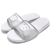 New Balance 拖鞋 NB SD130SV D 銀 白 基本款 夏日百搭款 男鞋 女鞋【ACS】 SD130SVD