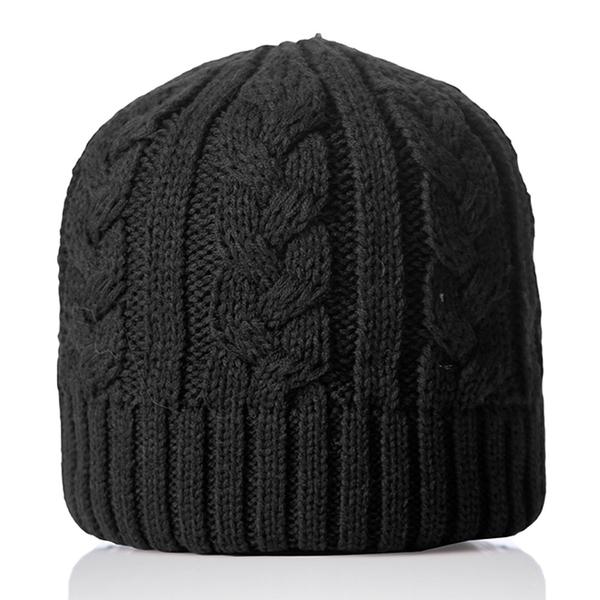 【PolarStar】中性 素色編織保暖帽『黑色』P18603 羊毛帽 毛球帽 素色帽 針織帽 毛帽 毛線帽 帽子