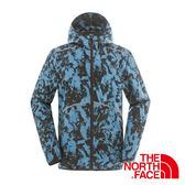 美國The North Face 男 輕量防風外套『RBU藍印花』抗風設計│安全反光片設計│路跑運動外套 2SMA