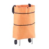 購物袋 超市購物袋摺疊便攜大號手提袋買菜包帶輪子防水袋子大容量環保袋 2色 雙12提前購