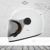 [中壢安信]THH TT01 素色 白色 輕量化 全罩 安全帽 復古 樂高帽 透氣佳 雙D扣 內襯全可拆