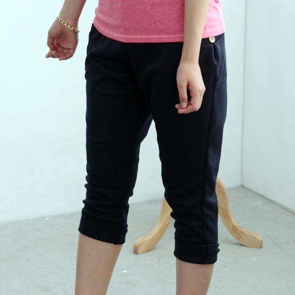 onlyyou 中大尺碼 MIT台灣製【A3065】百變好搭 ~~釦子口袋休閒褲 2色(XL~5L)
