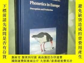 二手書博民逛書店Phonetics罕見in Europe: Perception