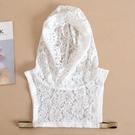 假領子襯衫穿搭領片 連帽蕾絲針織衫大學T外套內搭白色[E1609]滿額送愛康衛生棉預購.朵曼堤洋行