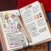 手賬本 隨身筆記本日式旅行手帳本子