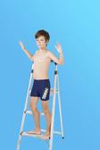 【M9211】梅林泳裝2020新品特價~男童藍搭黃色塊線條印字四角泳褲