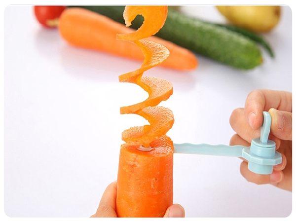 【切片捲花器】水果蔬菜旋轉切片器 螺旋狀切菜器 切菜神器