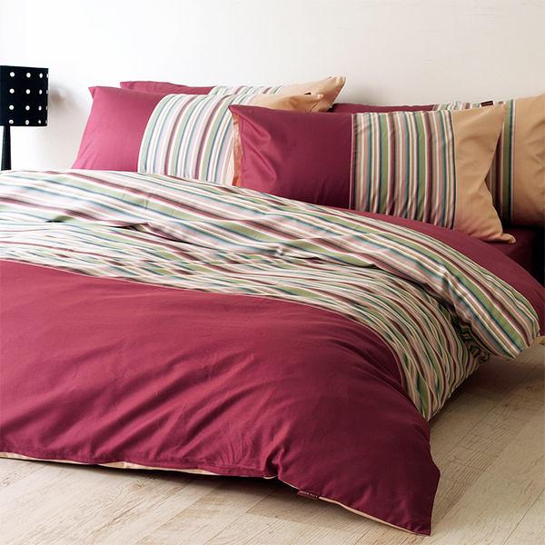 《特價品》-麗塔LITA- 40支精梳棉【秋季戀歌】單人床包薄被套枕套三件式
