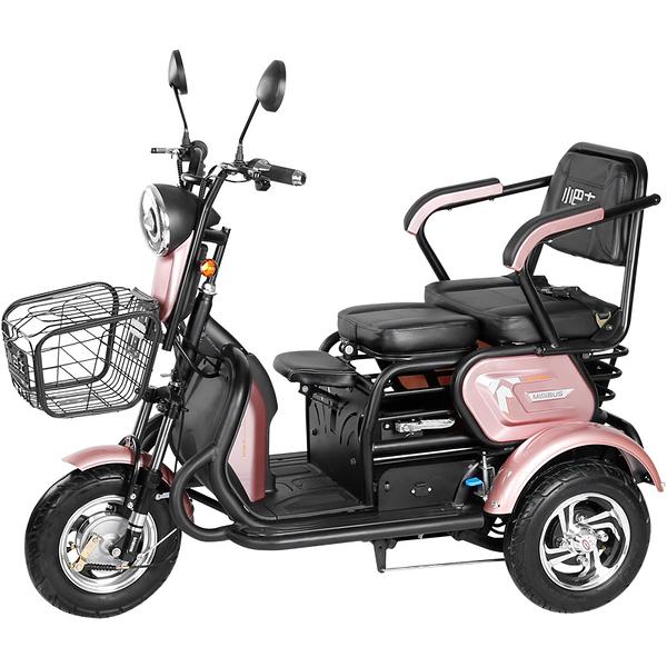 小巴士新款電動三輪車小型家用女性代步車接送孩子電瓶車可進電梯 MKS 卡洛琳