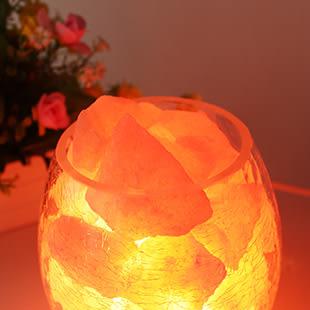 水晶鹽燈喜馬拉雅創意裝飾小台燈臥室床頭小夜燈時尚溫馨浪漫  SSJJG