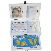 手腳印泥手足印紀念品乳牙胎毛盒新生嬰兒童寶寶百天周歲滿月禮物