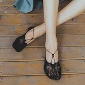 襪子女天鵝絨隱形襪吊帶船襪女淺口襪套韓國夏季蝴蝶結網眼短襪薄