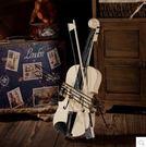 復古小提琴模型擺件道具櫥窗樣板房服裝店家居裝飾品擺件藝術品