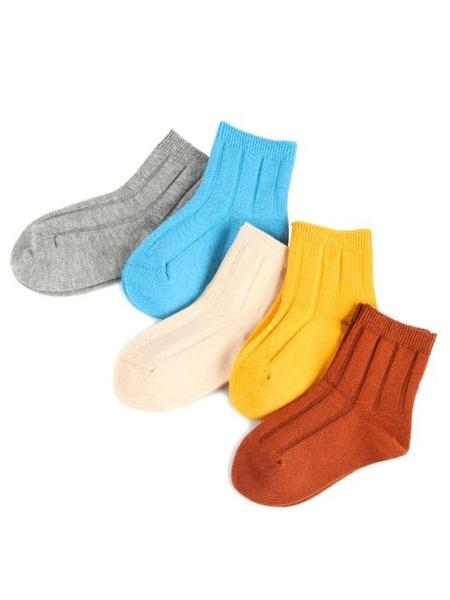 襪子 兒童襪子清 純棉襪秋冬男童中筒0-1-3-5歲7嬰兒幼兒女寶寶冬季襪【小天使】