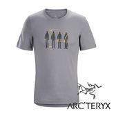 Arc'teryx 加拿大 始祖鳥 男 LOGO短袖T恤『小牛灰』L06823 吸濕排汗透氣T-shirt短袖運動衫 排汗衫