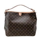 【台中米蘭站】展示品 Louis Vuitton Delightful MM 經典花紋肩背包(M40353-咖)