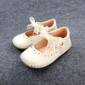 氣質典雅  簍空愛心  學步鞋娃娃鞋《7+1童鞋》D508米色