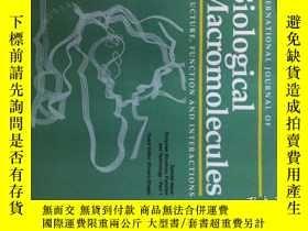 二手書博民逛書店International罕見Journal of Biological Macromolecules 01 20