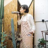 純棉家用廚房圍裙女小清新工作服