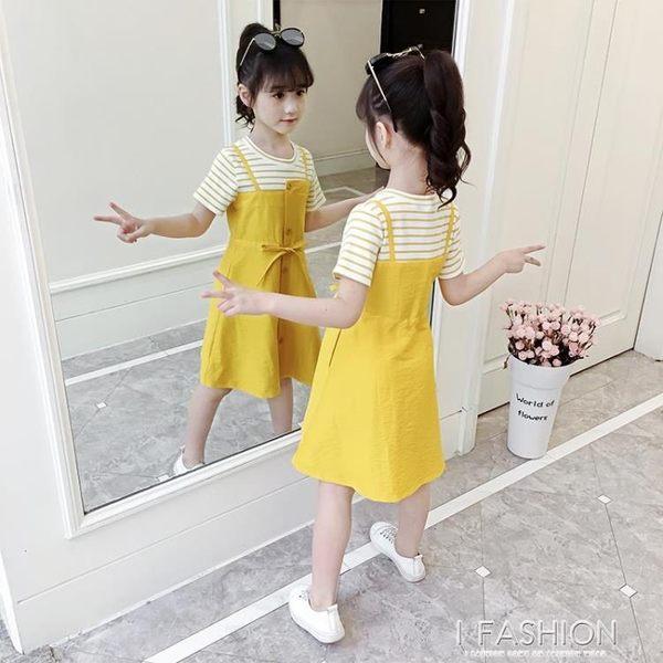 洋裝 女童網紅夏裝2019新款中大兒童小女孩夏季超洋氣公主裙韓版-ifashion