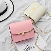 包包新款夏季韓版鏈條小方包鎖扣小清新迷你斜挎女包單肩小包 交換禮物