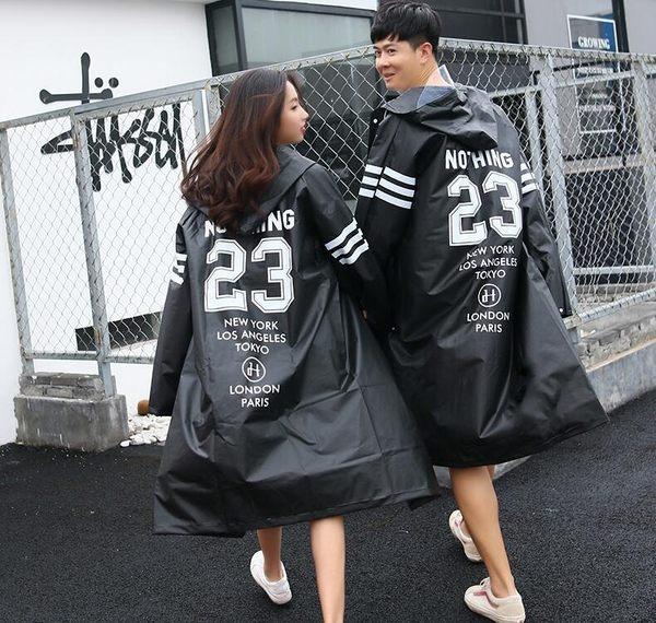潮牌透明雨衣女韓國時尚網紅版雨衣成人徒步情侶抖音男款旅行雨披  居家物語